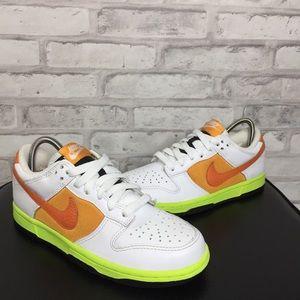 Nike Dunk Low White/Orange Women's Size 6